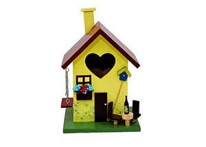 Beautifully Designed Yellow Birdhouse with Swing-The Weaver's Nest