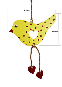 The Weaver's Nest Wooden Decorative Hanging Hen with Dangling Legs