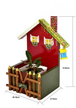 Load image into Gallery viewer, Wooden Hand Painted Welcome House with Birdhouse Fence Decorative Planter - The Weavers Nest