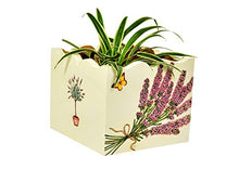 Load image into Gallery viewer, Handcrafted Wooden Multi Utility Storage Planter Box with Lavender Flowers - The Weaver's Nest