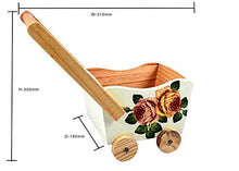 Load image into Gallery viewer, The Weavers Nest Wooden Cart with Multi Utility Storage Planter