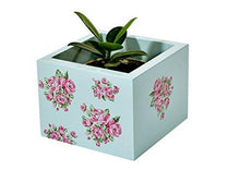 Load image into Gallery viewer, The Weaver's Nest Wooden Handpainted Box Planter