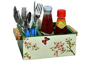 The Weaver's Nest Cutlery Holder and Table Organizer with Storage for Kitchen and Dinning Table