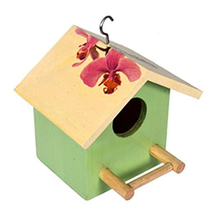 The Weaver's Nest Green Birdhouse with Orchids