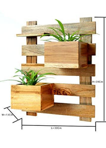 The Weaver's Nest Wooden Wall Planter Stand
