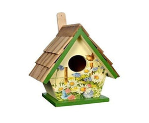 The Weaver's Nest Teak Wood Roof Bird House