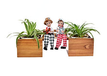 Load image into Gallery viewer, The Weaver's Nest Boy & Girl Wooden Bench Planter