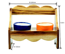 Load image into Gallery viewer, The Weaver's Nest Wooden Bench Planter with Ceramic Pots