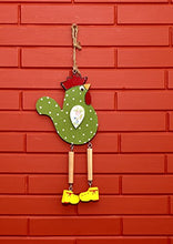Load image into Gallery viewer, The Weaver's Nest Wooden Decorative Hanging Hen with Dangling Legs