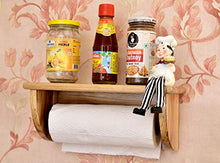 Load image into Gallery viewer, The Weaver's Nest Teak Wood Kitchen Roll /Towel Dispenser