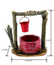 Load image into Gallery viewer, The Weaver's Nest Wishing Well Planter (Red and Brown)