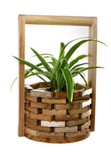 Load image into Gallery viewer, The Weaver's Nest Teak Wood Wishing Well Planter