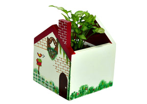 The Weaver's Nest Beautifully Hand Crafted Multipurpose Box and Planter Off White