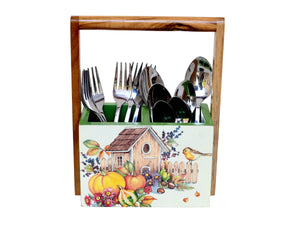 The Weaver's Nest Spoon Stand Cutlery Holder Table Organizer for Kitchen , Dining Table