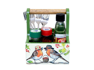 The Weaver's Nest Spoon Stand Cutlery Holder and Table Organizer with Storage for Kitchen and Dining Table