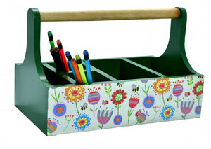 Beautifully handcrafted caddy for stationery/cutlery holders