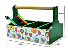 Load image into Gallery viewer, Beautifully handcrafted caddy for stationery/cutlery holders