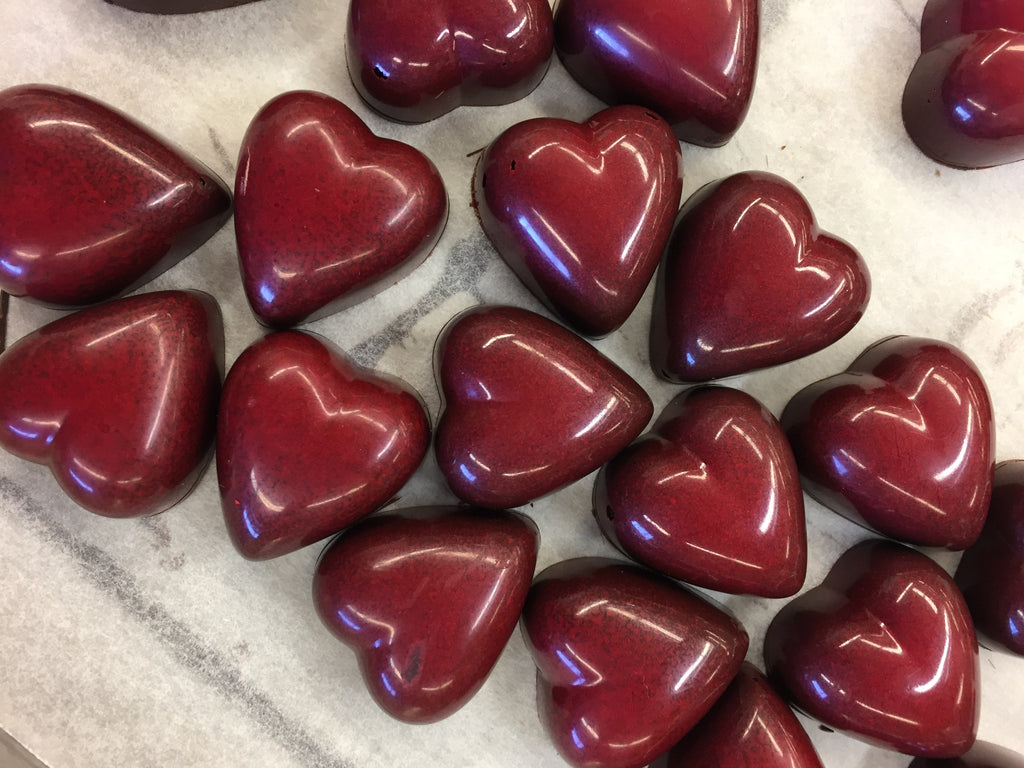 Raspberry Heart Bonbons for Valentine's Day