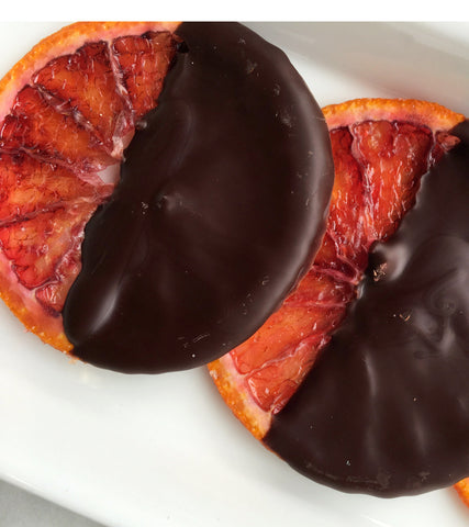 Blood Orange Dipped in Chocolate