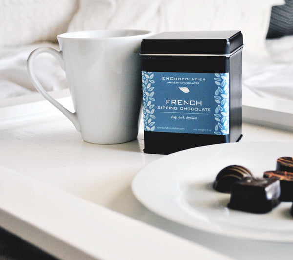 EHChocolatier Sipping Chocolate (French, Mexican, Blondie) make the perfect CHristmas gift set for the hot chocolate lover.