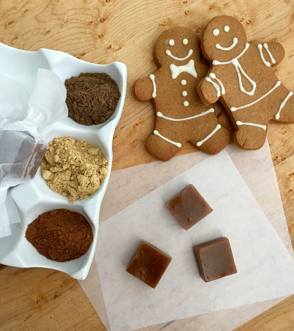 Soft Gingerbread Caramels is the perfect holiday gift for the gingerbread lover!