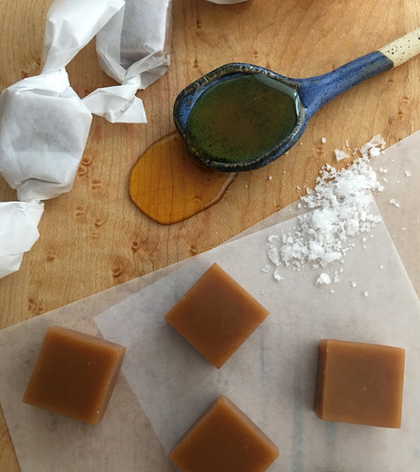 Wildflower honey caramel with fleur de sel