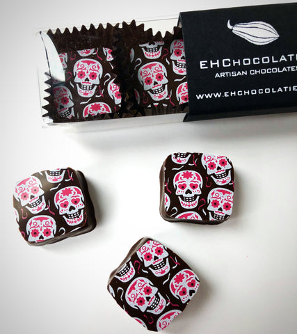 Calavera (Skull) 85% Dark Chocolates