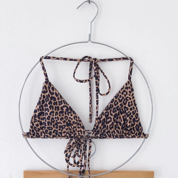 LEOPARD DOBLE TRIANGLE TOP
