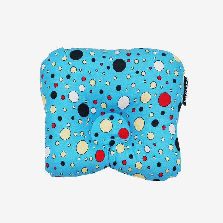 Baby Head Shape Pillow Multi-color Polka Dots