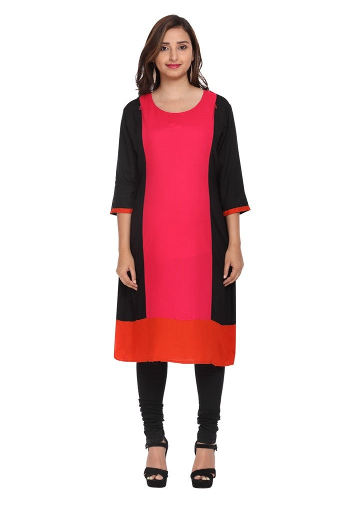 Colour Block Feeding Kurti