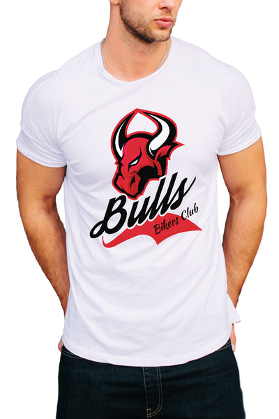 Bulls Bikers Club Men's T-Shirt - Royal Belly