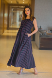 ROYAL WIDE STRIPED MATERNITY AND NURSING MAXI
