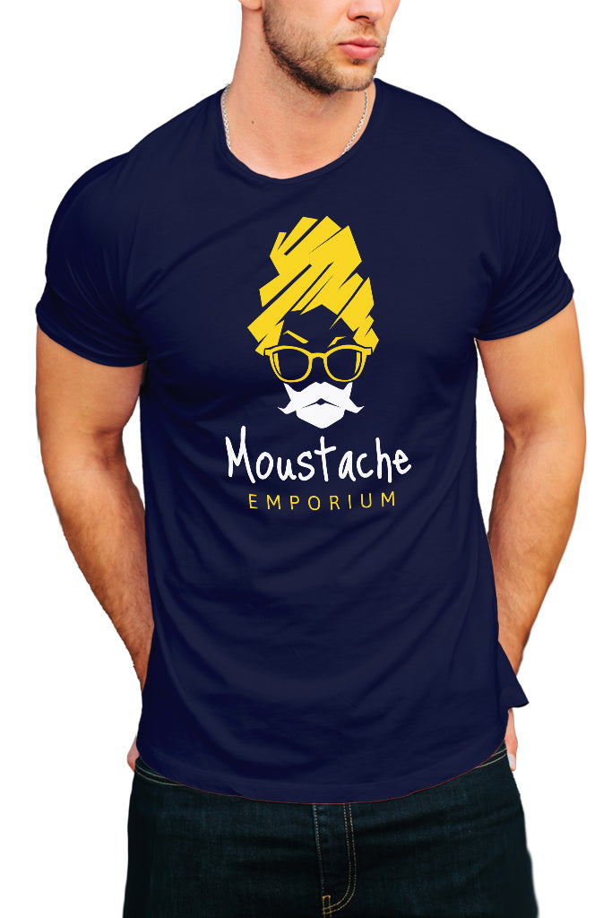 Moustache Emporium Men's T-Shirt - Royal Belly