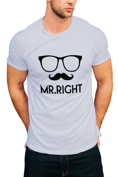 Mr.Right Men's T-Shirt - Royal Belly