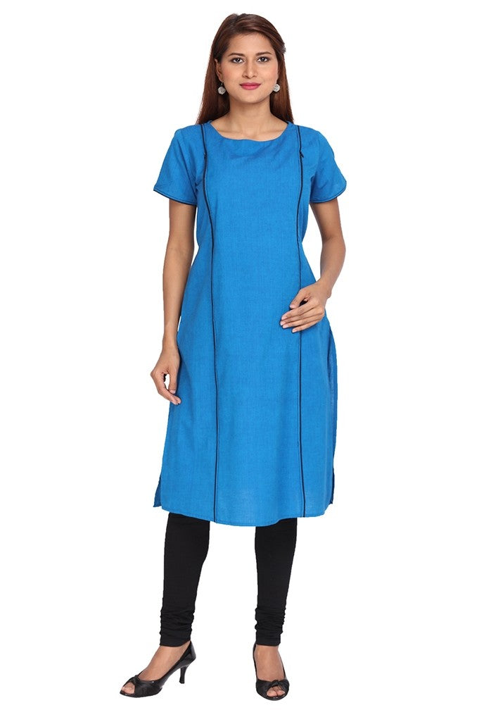 Chic Blue Feeding Kurta