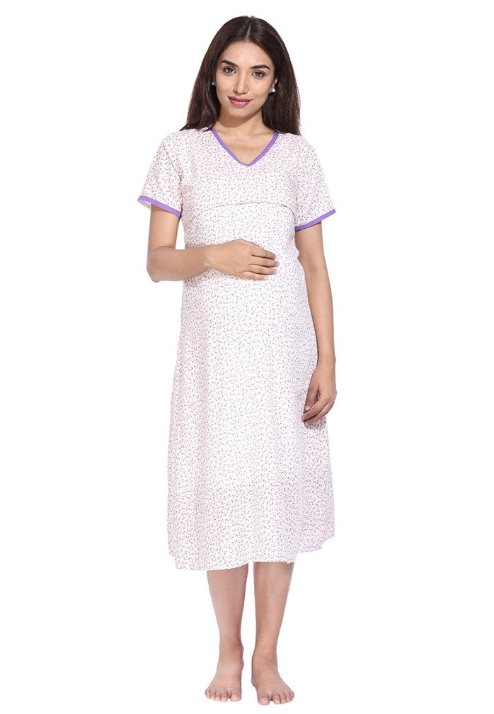 Floral Nursing NightGown