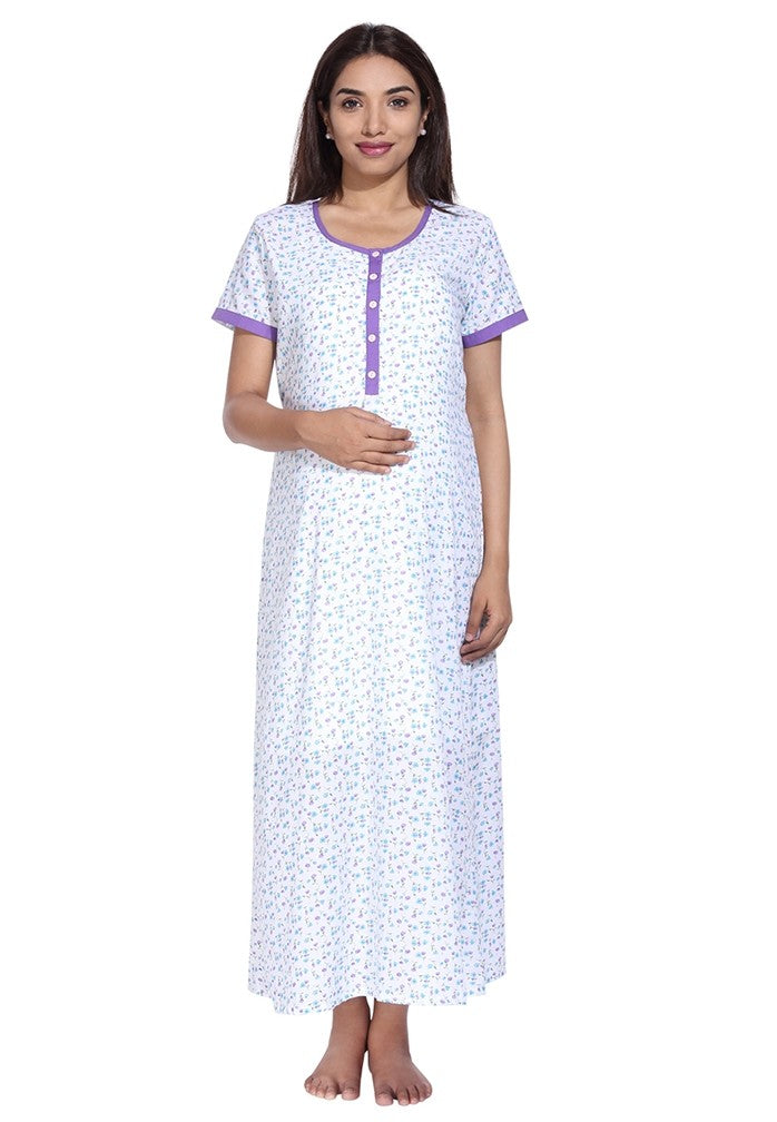 Floral Nursing Nighty