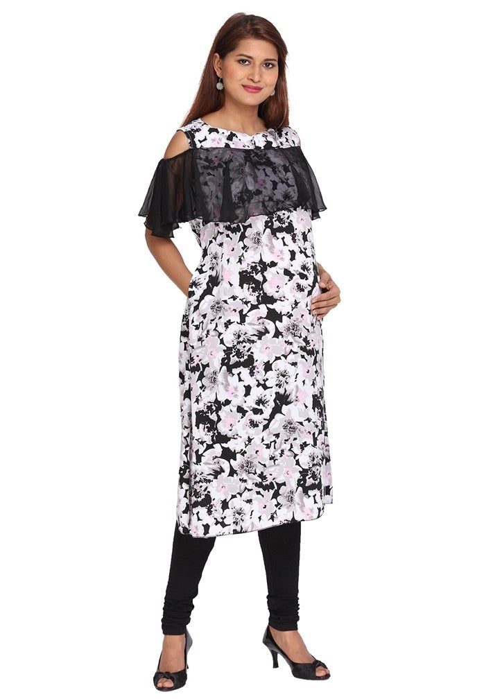Pretty Black Feeding Kurti