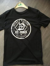 Afbeelding in Gallery-weergave laden, T-shirt Fit-Force streetwear uit eigen collectie - smal / zwart/wit - medium / zwart/wit - large / zwart/wit - xl / zwart/wit - xxl / zwart/wit