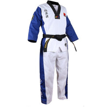Afbeelding in Gallery-weergave laden, Verschillende kleuren taekwondo uniform - Blue color dobok / XS - Blue color dobok / XXS - Blue color dobok / XXXS - Blue color dobok / XL - Blue color dobok / L - Blue color dobok / M - Blue color dobok / S - Blue color dobok / XXXL - Blue color dobok / XXL