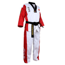 Afbeelding in Gallery-weergave laden, Verschillende kleuren taekwondo uniform - Red color dobok / XXXS - Red color dobok / M - Red color dobok / S - Red color dobok / XS - Red color dobok / XXS - Red color dobok / XXXL - Red color dobok / XXL - Red color dobok / XL - Red color dobok / L
