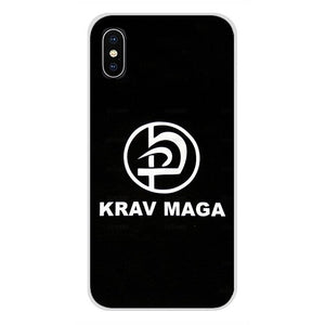 Israel Krav maga Phone Cases Covers For Apple iPhone X XR XS MAX 4 4S 5 5S 5C SE 6 6S 7 8 Plus ipod touch 5 6 - vechtsportartikelen