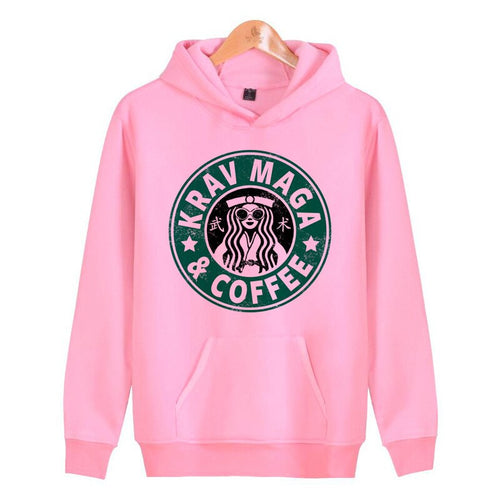 krav maga Girl Hoodie: Krav Maga and coffee - vechtsportartikelen