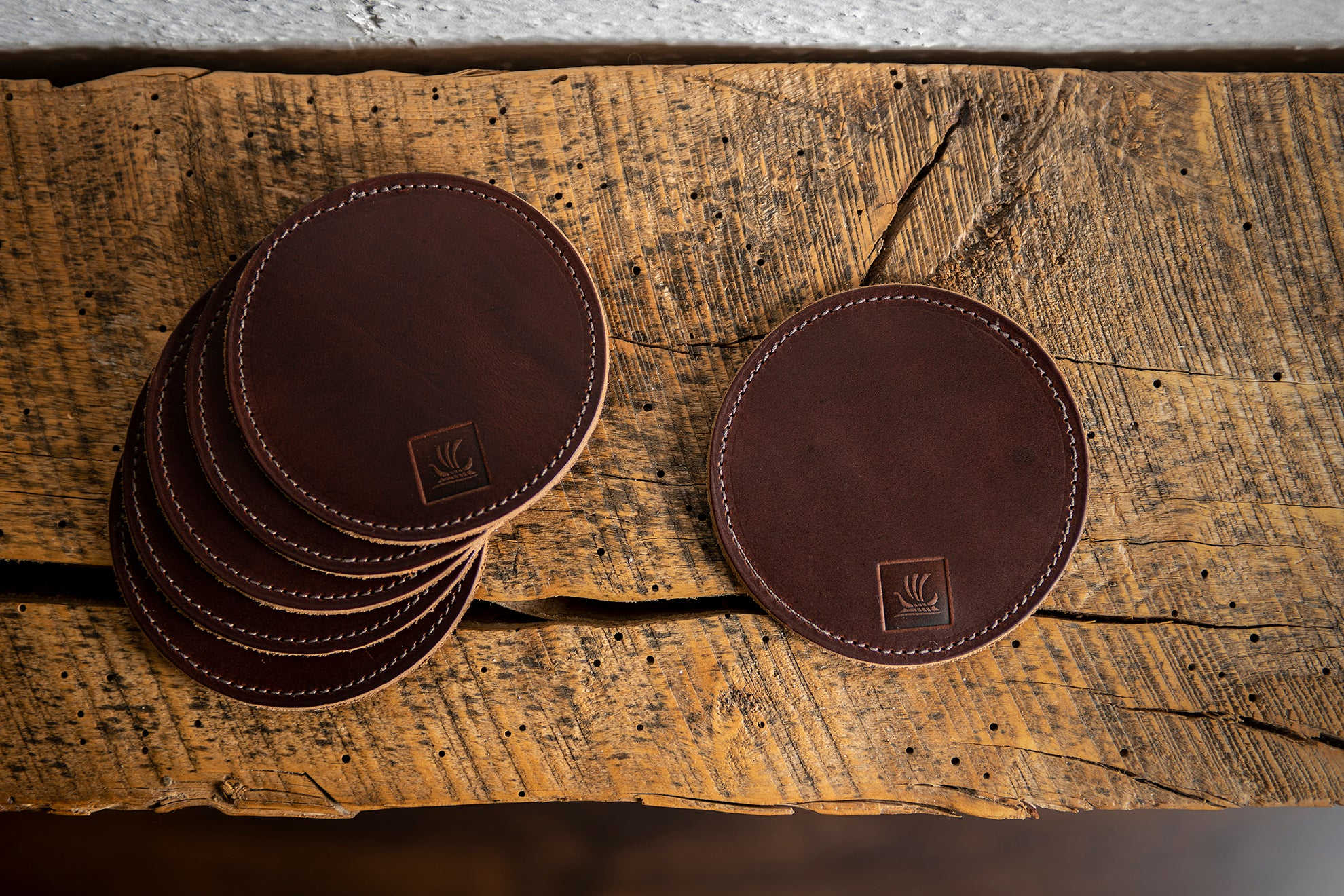 Coaster Sets - Copper Brown