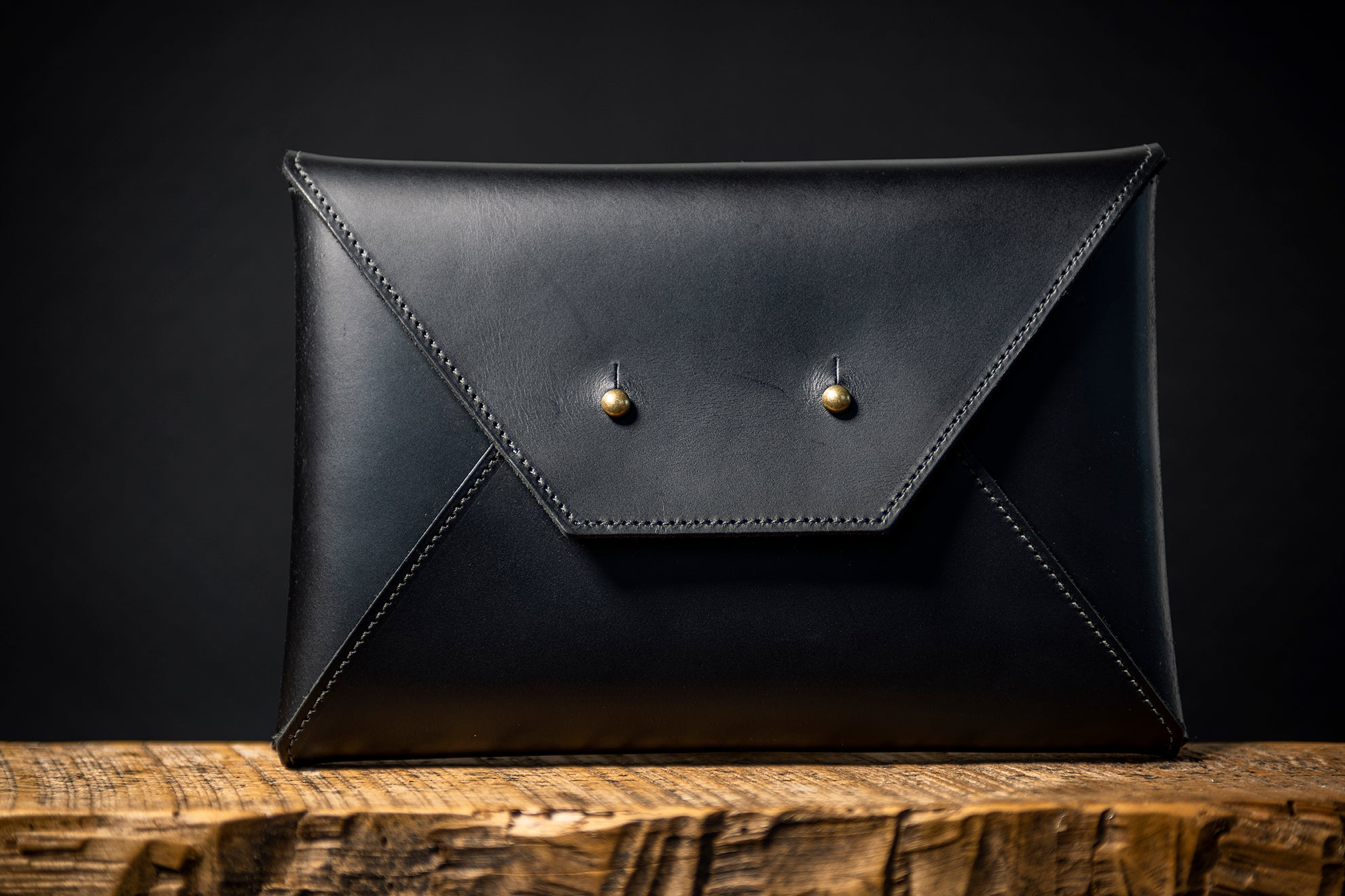 Envelope Clutch - Midnight Black