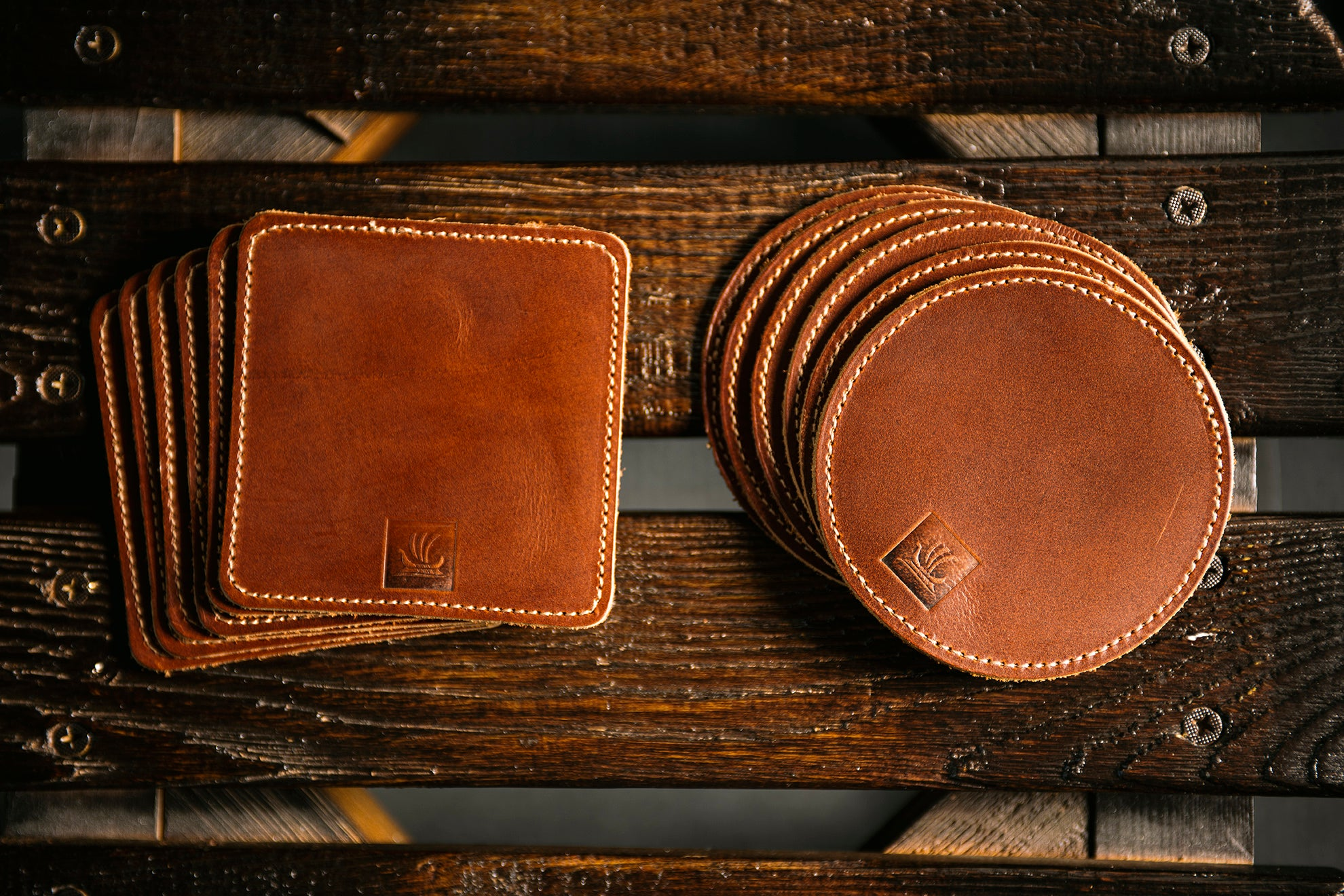 Coaster Sets - Antique Tan