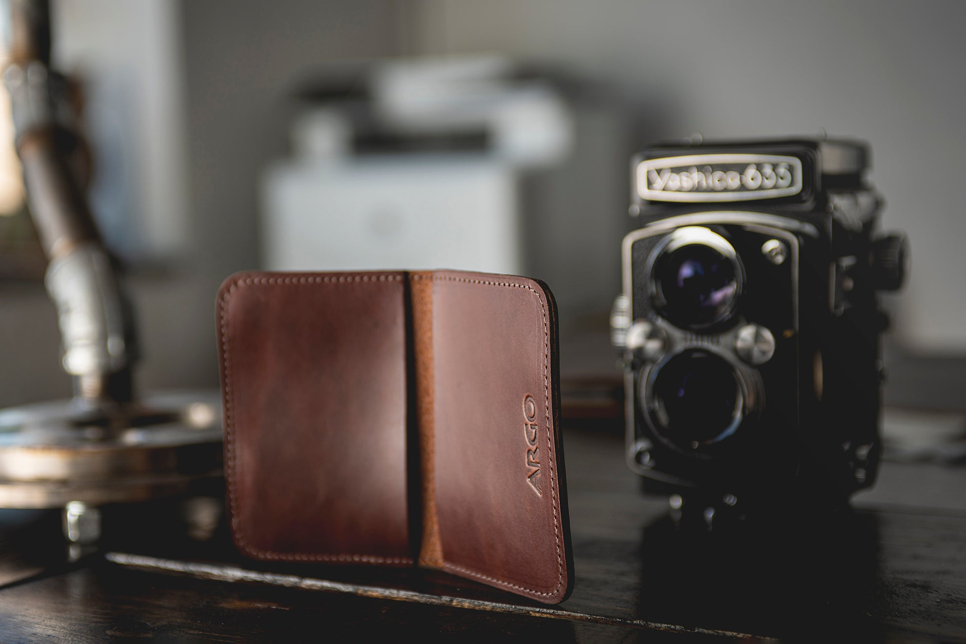 Slim Wallet - Copper Brown