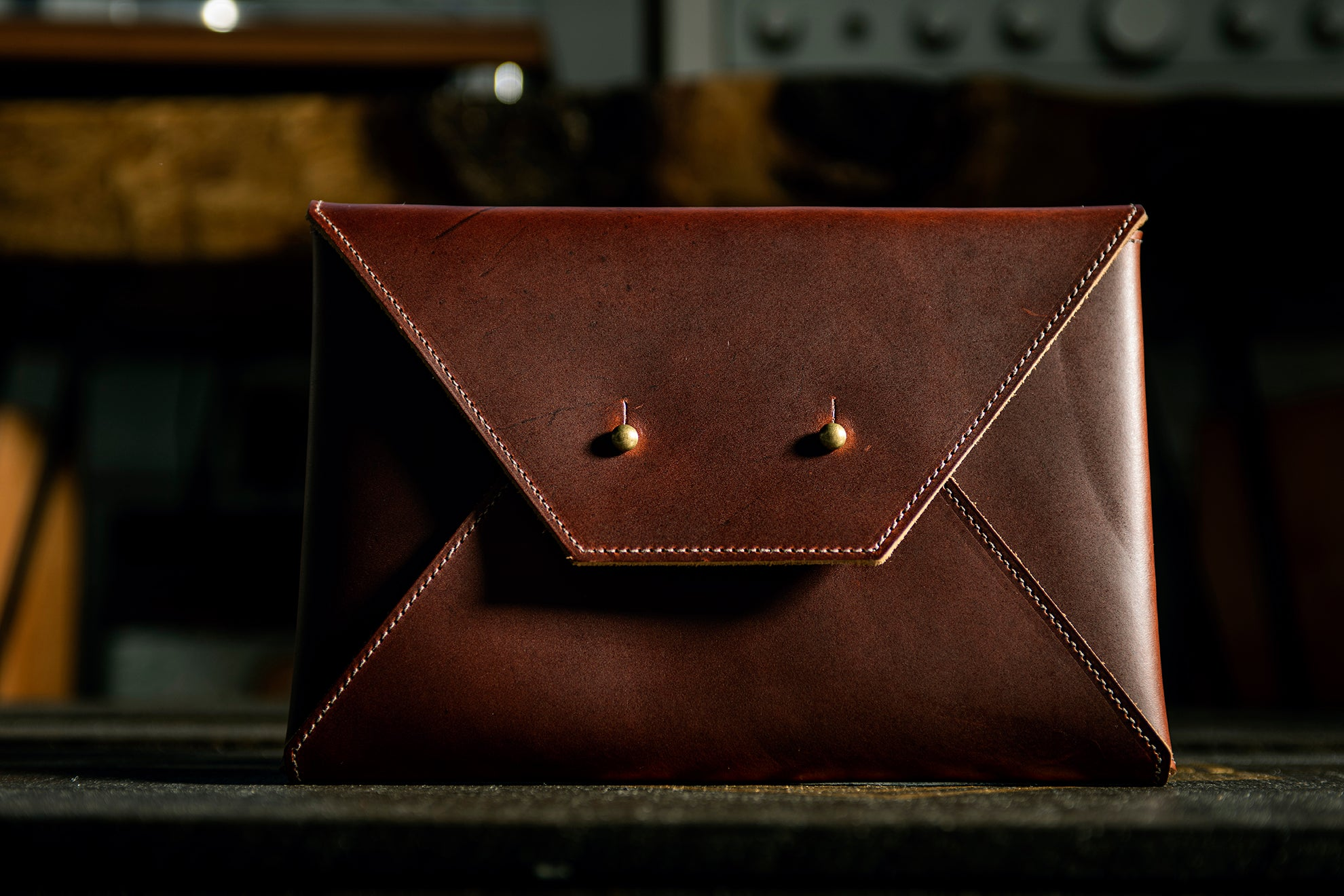Envelope Clutch - Copper Brown