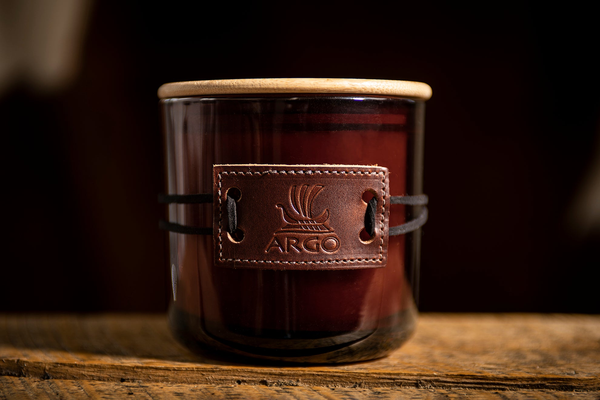 Rich Leather Candle