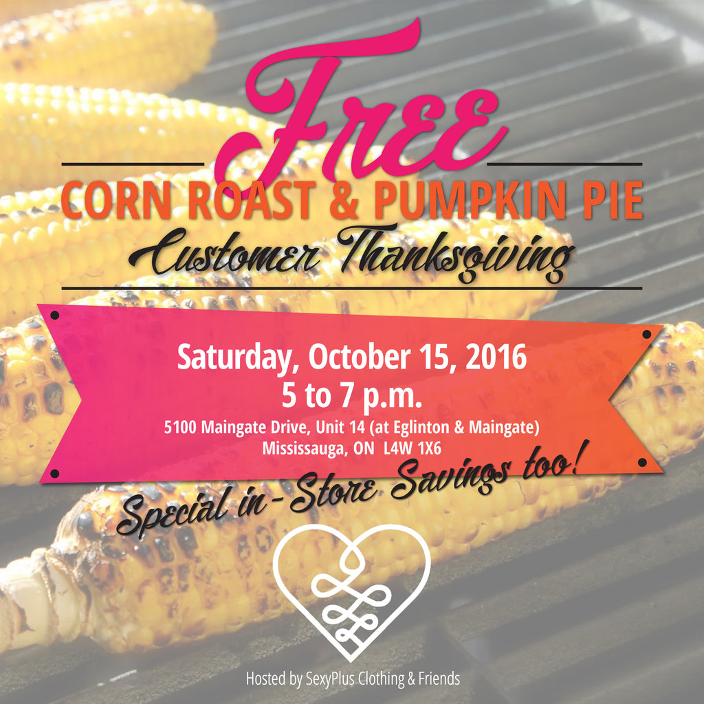 FREE Corn Roast and Pumpkin Pie Customer Thanksgiving!